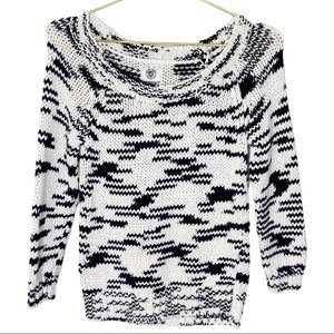 American Eagle Outfitters Black White Knit Sweater